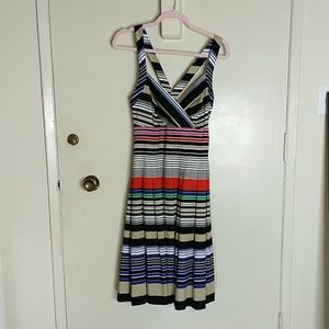 Calvin Klein Multi-Color Striped Sundress - NWT